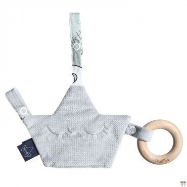LA MILLOU BY MAJA BOHOSIEWICZ VELVET COLLECTION ZAWIESZKA PACIFIER COMBO DARK GREY UNICORN RAINBOW KNIGHT
