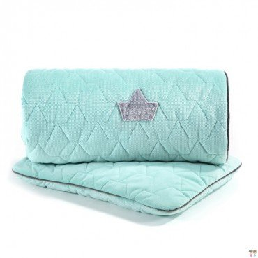 LA MILLOU VELVET COLLECTION ZESTAW KOCYK ŚREDNIAKA I PODUSIA MID PILLOW AUDREY MINT & GREY
