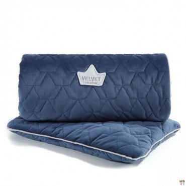 LA MILLOU VELVET COLLECTION SET KOCYK ŚREDNIAKA I PODUSIA MID PILLOW HARVARD BLUE