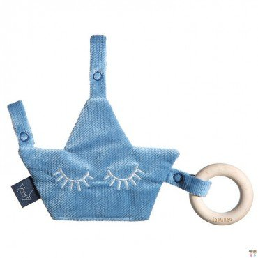 LA MILLOU VELVET COLLECTION ZAWIESZKA PACIFIER COMBO DENIM