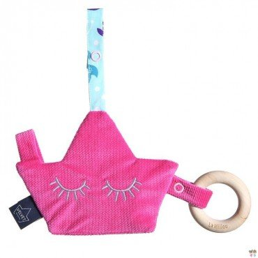 LA MILLOU VELVET COLLECTION ZAWIESZKA PACIFIER COMBO PINKY MERMAID