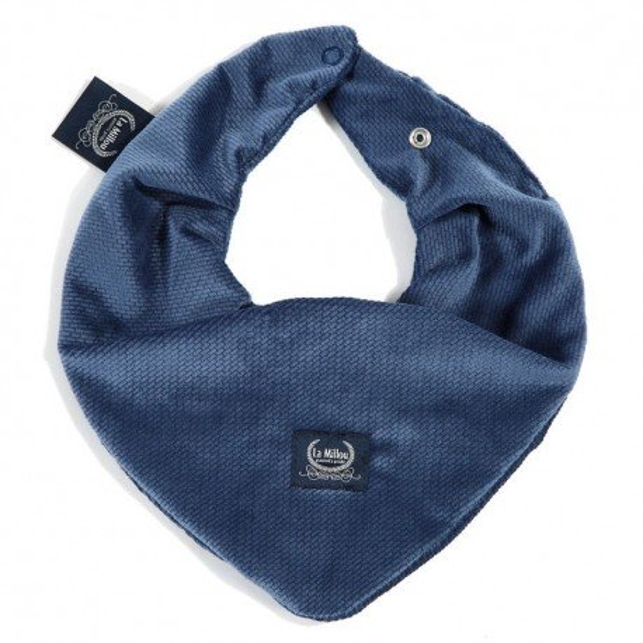 LA Millou very soft scarf HARVARD BLUE VELVET COLLECTION
