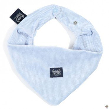 LA Millou VELVET COLLECTION very soft scarf POWDER BLUE