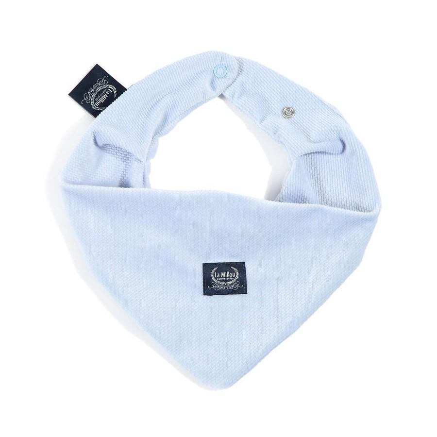 LA Millou VELVET COLLECTION very soft scarf POWDER BLUE