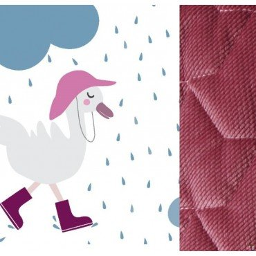 LA Millou blanket of the middle 80x100CM VELVET COTTON Dancing in the Rain BRIGHT MULBERRY