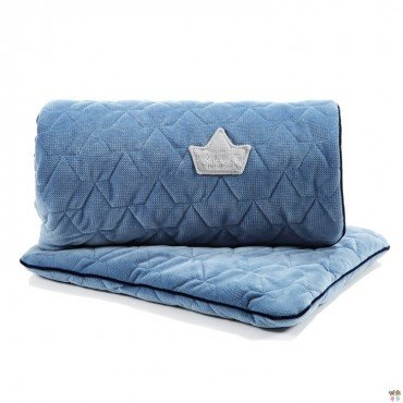 LA MILLOU VELVET COLLECTION SET KOCYK ŚREDNIAKA I PODUSIA MID PILLOW DENIM