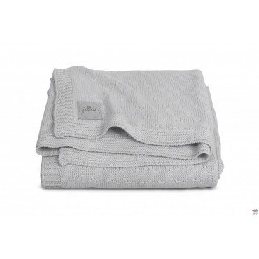 JOLLEIN BLANKET 75x100 SOFT KNIT LIGHT GREY