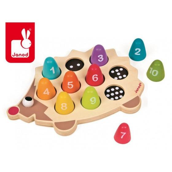 JANOD wooden jigsaw puzzle Hedgehog
