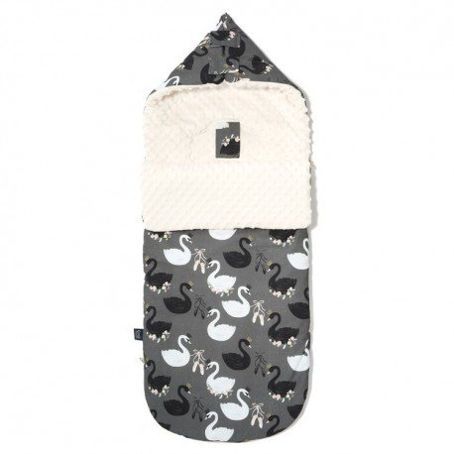 LA Millou stroller sleeping bag M BAG PREMIUM BLACK SWAN ECRU