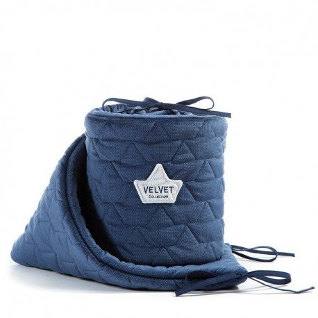 LA Millou VELVET COLLECTION PROTECTOR TO HARVARD BLUE COTS