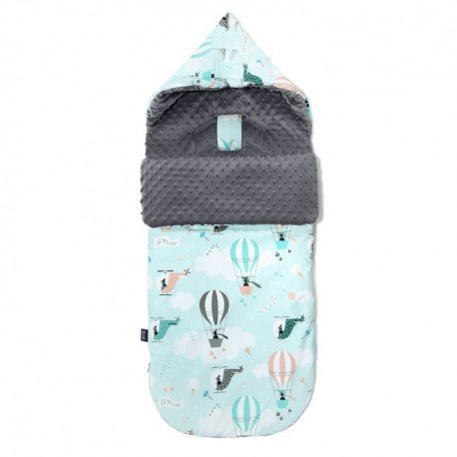 LA Millou stroller sleeping bag BAG PREMIUM M MISS CLOUDY GRAY