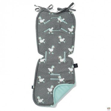 LA MILLOU THICK STROLLER PAD VELVET COLLECTION DANCING IN THE RAIN DARK AUDREY MINT