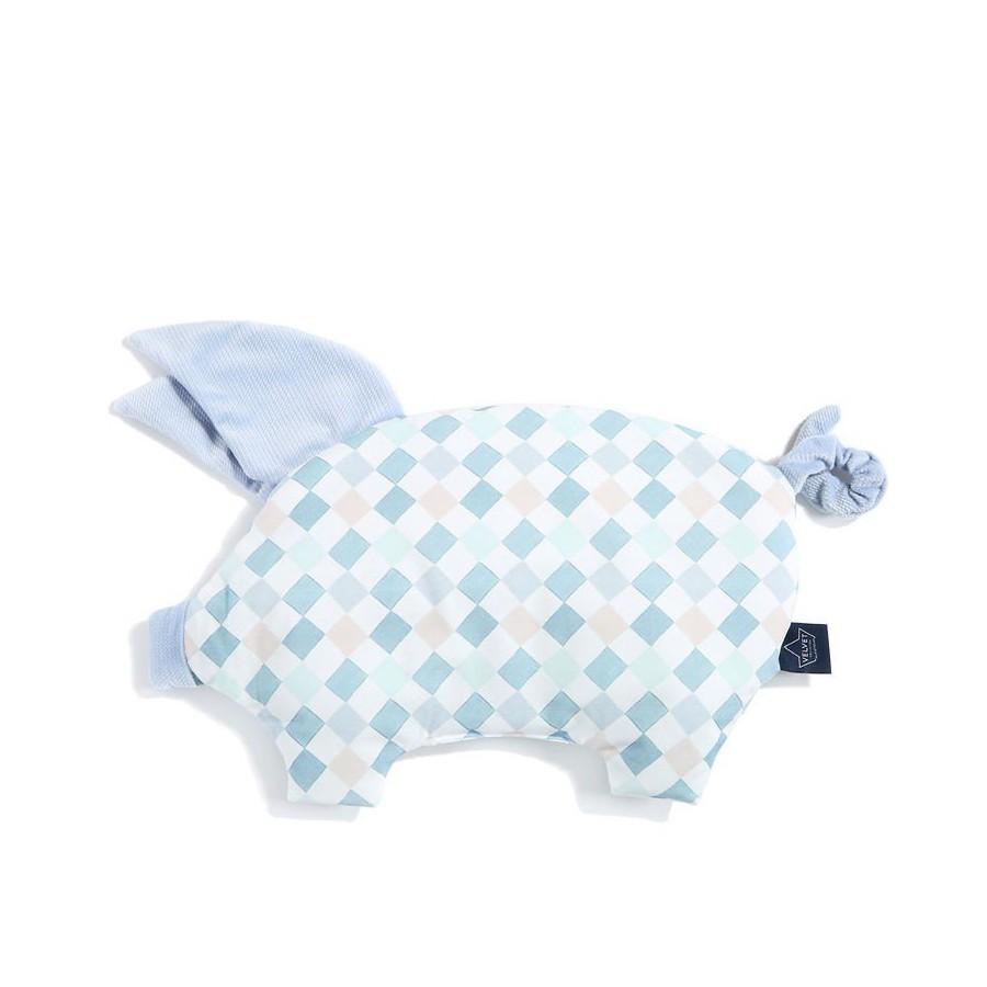 LA Millou VELVET COLLECTION pillow LA Millou SLEEPY PIG POWDER