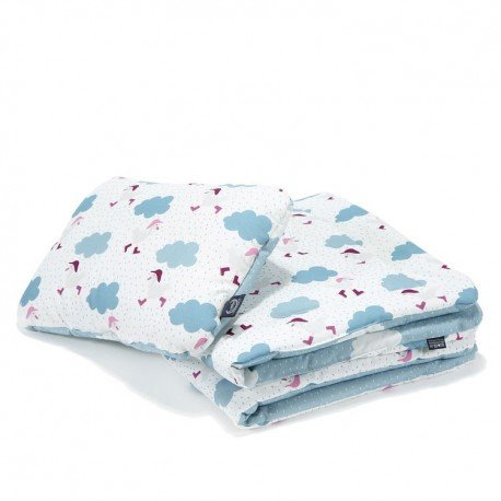 LA Millou set of sheets M dancing in the BRIGHT clouds on DENIM