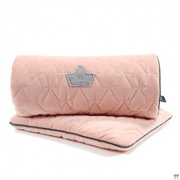 LA MILLOU VELVET COLLECTION SET KOCYK ŚREDNIAKA I PODUSIA MID PILLOW POWDER PINK