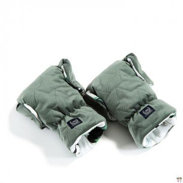 LA MILLOU VELVET COLLECTION MUFF GLOVES PREMIUM JUNGLE SWAN KHAKI